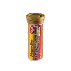 PowerBar 5 Electrolytes - Nutrition sport - Rasperry-Pomgranate 10 Tabs rouge/Or